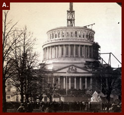 Inauguration of President Lincoln at U.S. Capitol, March 4, 1861