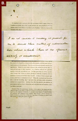 Page 1 of Lincoln's First Inaugural Address