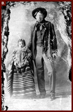 Sioux father and child, photo by Graves Studio (Chadron), between 1890 and 1920
