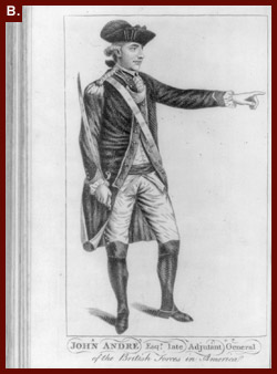 John Andre, Esqr., Late Adjutant General of the British Forces in America (British Maj. John Andre, a contemporary of James Grant, negotiated with American traitor Benedict Arnold for the surrender of West Point before being captured and hanged as a spy. Rare Book and Special Collections Division