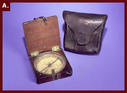 William Clark's compass and case