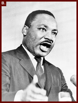 ?[Rev. Martin Luther King, head-and-shoulders portrait, facing right, speaking at a rally in Crawfordville, Ga.]