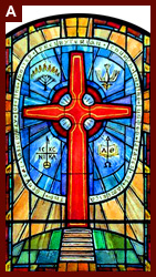 Design Drawing For Stained Glass Window General Assembly Of The United Presbyterian Church In