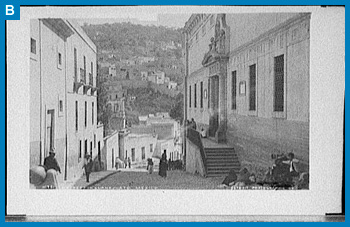 A street in Guanajuato, Mexico. Between 1880 and 1897. Prints and Photographs Division. Reproduction Information: Reproduction No.: LC-D418-8481 (b&w glass neg.); Call No.: LC-D418-8481 <P&P>[P&P] Catalog Record: http://hdl.loc.gov/loc.pnp/det.4a27131